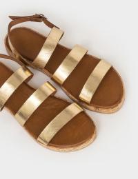 Сандалі  жіночі Сандали 1005gold золотая кожа 1005gold брендове взуття, 2017