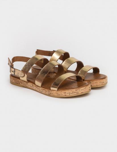 Сандалі  жіночі Сандали 1005gold золотая кожа 1005gold модне взуття, 2017