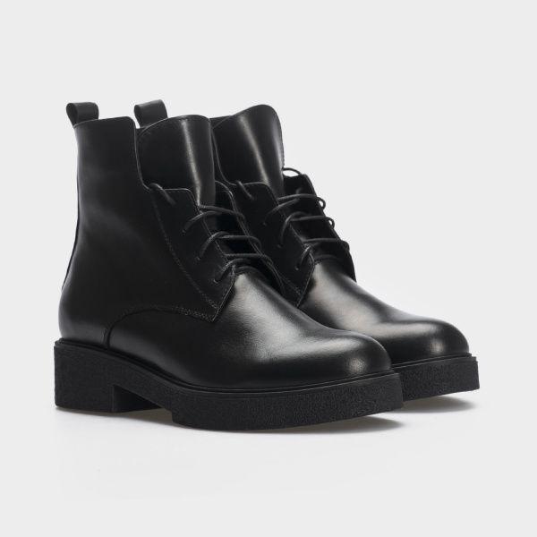 Ботинки женские Ботинки 10600220 черная кожа. Байка 10600220 брендовая обувь, 2017