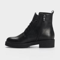 Ботинки женские Ботинки 10600220 черная кожа. Байка 10600220 примерка, 2017