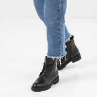 Ботинки женские Ботинки 10600220 черная кожа. Байка 10600220 цена, 2017