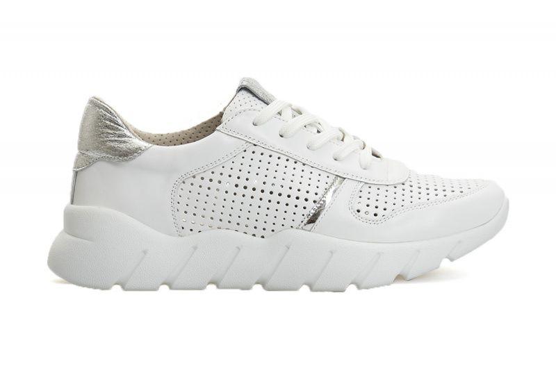 Купить Кроссовки женские Слипоны 107-P-1V-010 белая кожа 107-P-1V-010, Gem, Белый