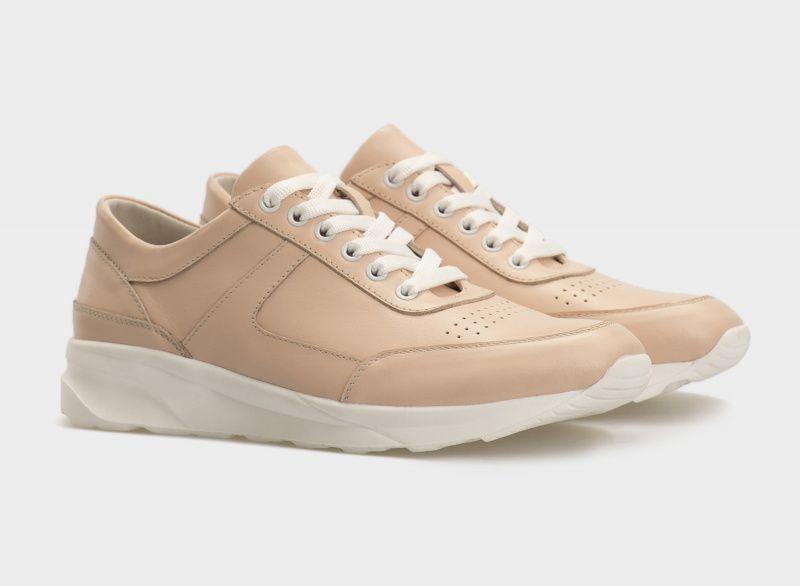 Кроссовки для женщин Кроссовки 110 бежевая кожа 110 цена обуви, 2017