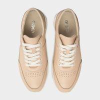Кроссовки для женщин Кроссовки 110 бежевая кожа 110 модная обувь, 2017