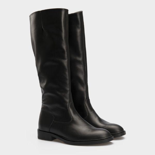 Сапоги для женщин Сапоги 1147-020 черная кожа. Байка 1147-020 купить в Интертоп, 2017