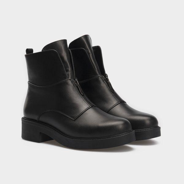 Ботинки женские Ботинки 12300131 черная кожа. Шерсть 12300131 купить в Интертоп, 2017