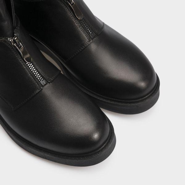 Ботинки женские Ботинки 12300131 черная кожа. Шерсть 12300131 цена, 2017