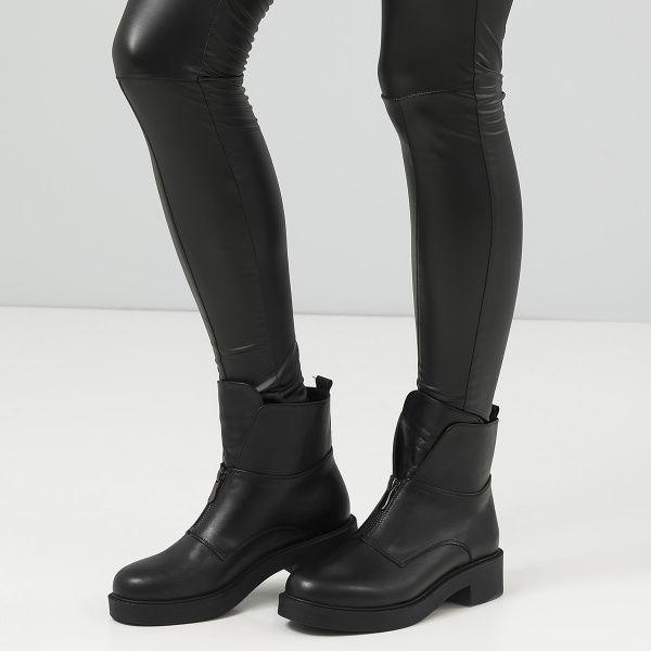Ботинки женские Ботинки 12300131 черная кожа. Шерсть 12300131 бесплатная доставка, 2017