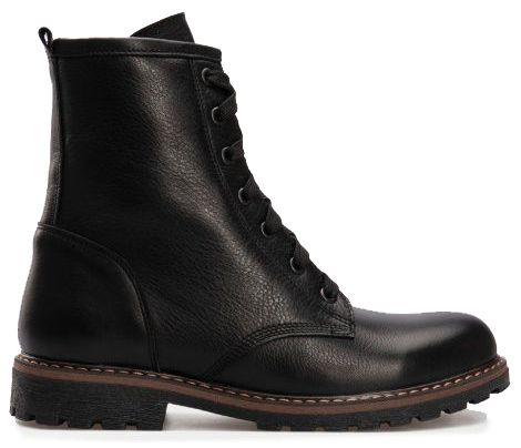 Купить Ботинки женские Ботинки 127-4 черная кожа/замша. Флис 127-4, Gem, Черный