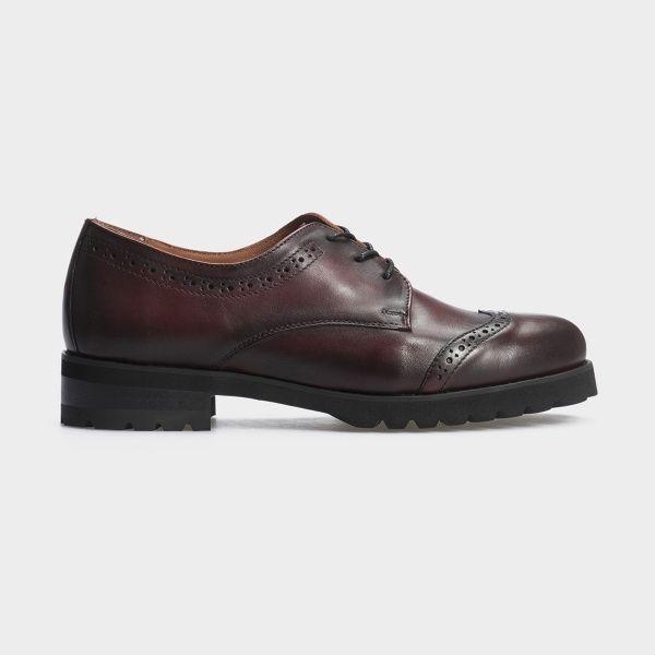 Туфли для женщин Туфли 12703-48 бордовая кожа 12703-48 брендовая обувь, 2017