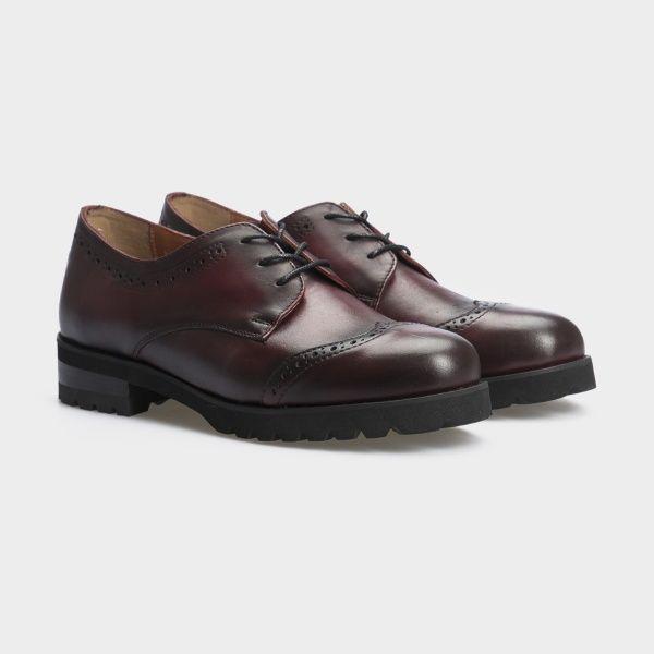 Туфли для женщин Туфли 12703-48 бордовая кожа 12703-48 модная обувь, 2017