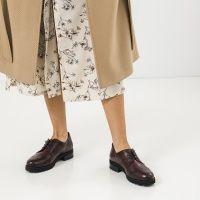 Туфли для женщин Туфли 12703-48 бордовая кожа 12703-48 размерная сетка обуви, 2017