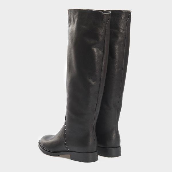 Сапоги женские Сапоги 13326846040-1 черная кожа. Еврозима 13326846040-1 фото, купить, 2017