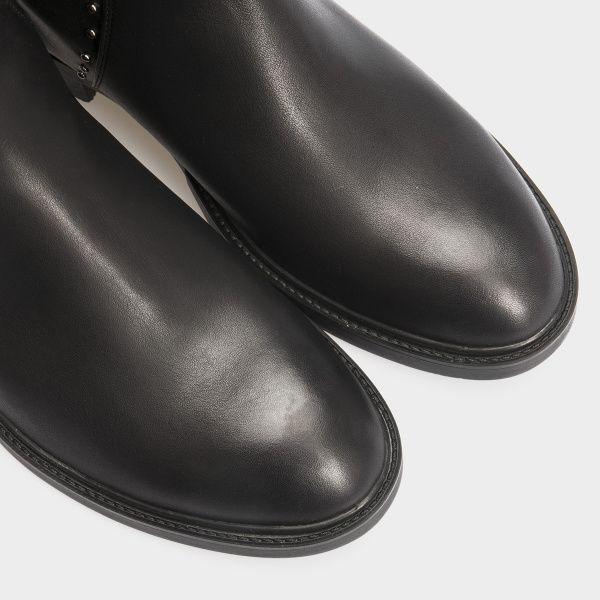 Сапоги женские Сапоги 13326846040-1 черная кожа. Еврозима 13326846040-1 продажа, 2017