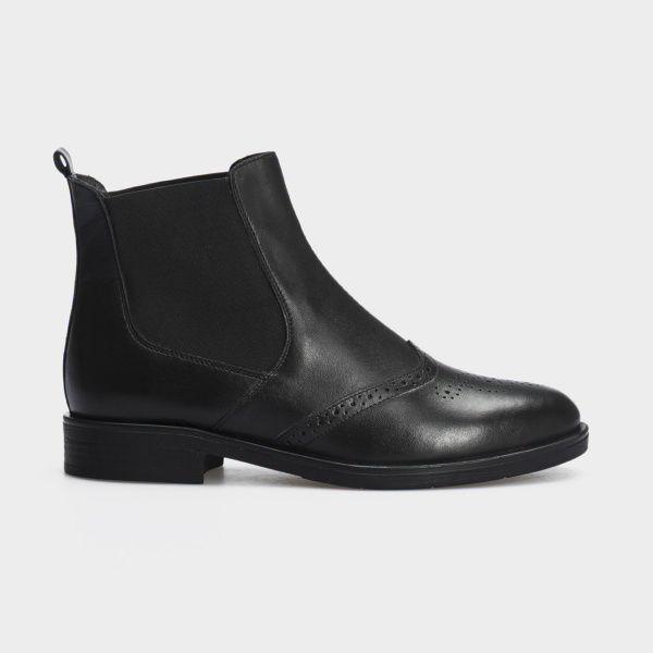 Ботинки женские Ботинки 13400220 черная кожа. Байка 13400220 цена, 2017