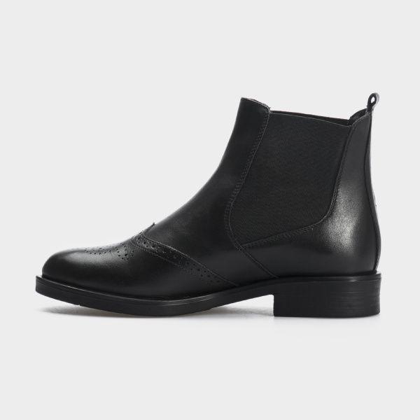 Ботинки женские Ботинки 13400220 черная кожа. Байка 13400220 брендовая обувь, 2017