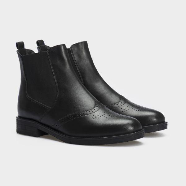 Ботинки женские Ботинки 13400220 черная кожа. Байка 13400220 примерка, 2017