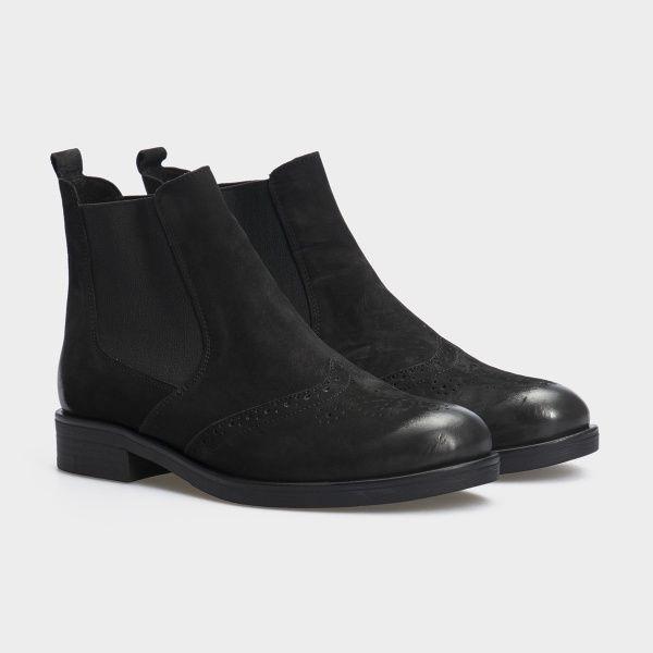 Ботинки для женщин Ботинки 13418120 черный нубук. Байка 13418120 цена, 2017