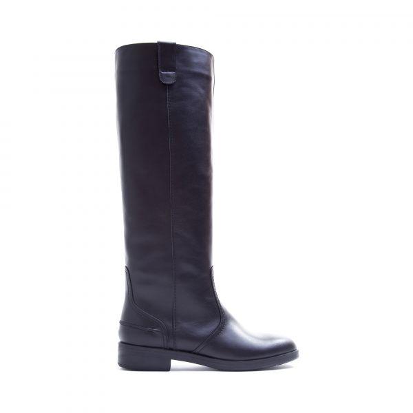 Сапоги женские Сапоги 1375-050 черная кожа. Еврозима 1375-050 брендовая обувь, 2017