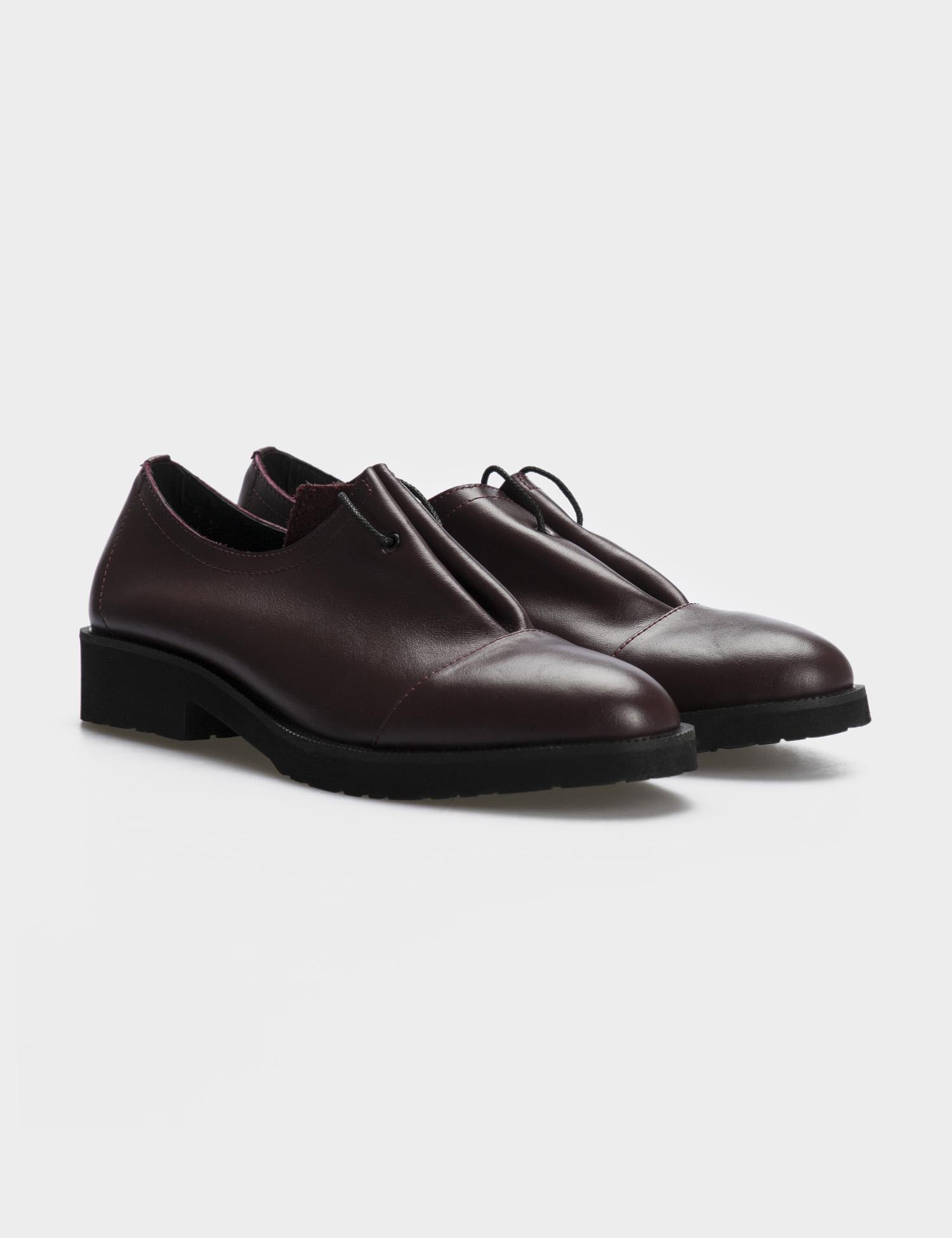 Туфлі  жіночі Туфли 1401bordo бордовая кожа 1401bordo брендове взуття, 2017