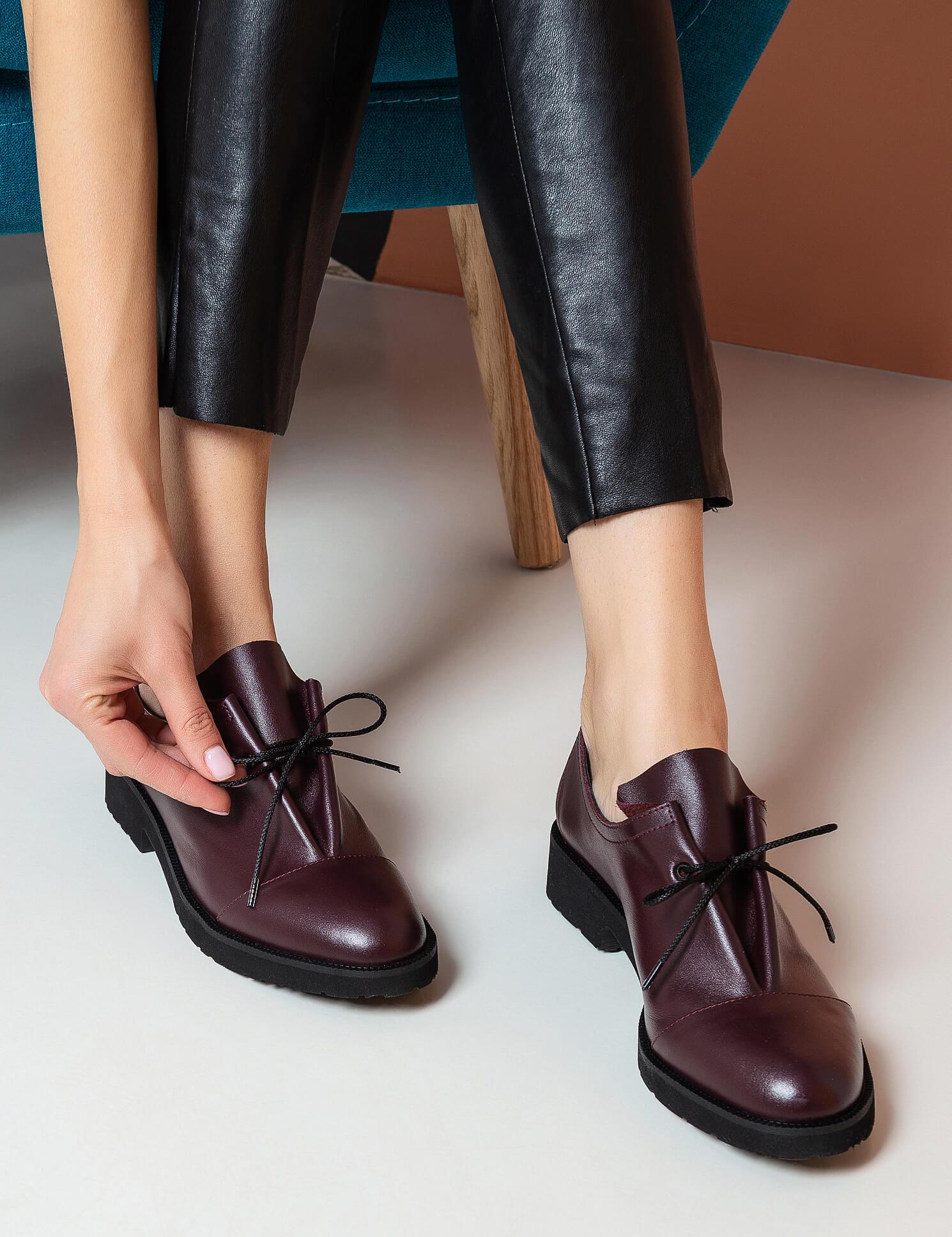 Туфлі  жіночі Туфли 1401bordo бордовая кожа 1401bordo продаж, 2017