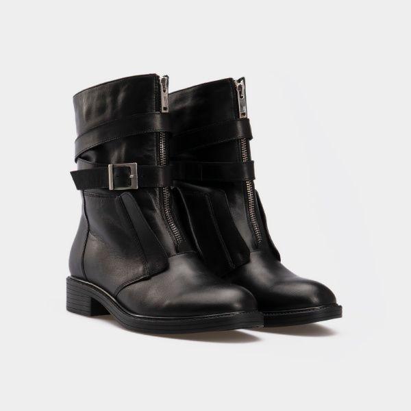 Ботинки женские Ботинки 143797620 черная кожа/замша. Байка 143797620 купить в Украине, 2017