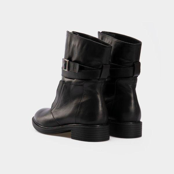 Ботинки женские Ботинки 143797620 черная кожа/замша. Байка 143797620 выбрать, 2017