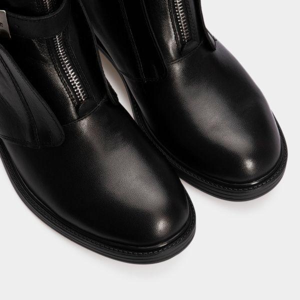 Ботинки женские Ботинки 143797620 черная кожа/замша. Байка 143797620 Заказать, 2017