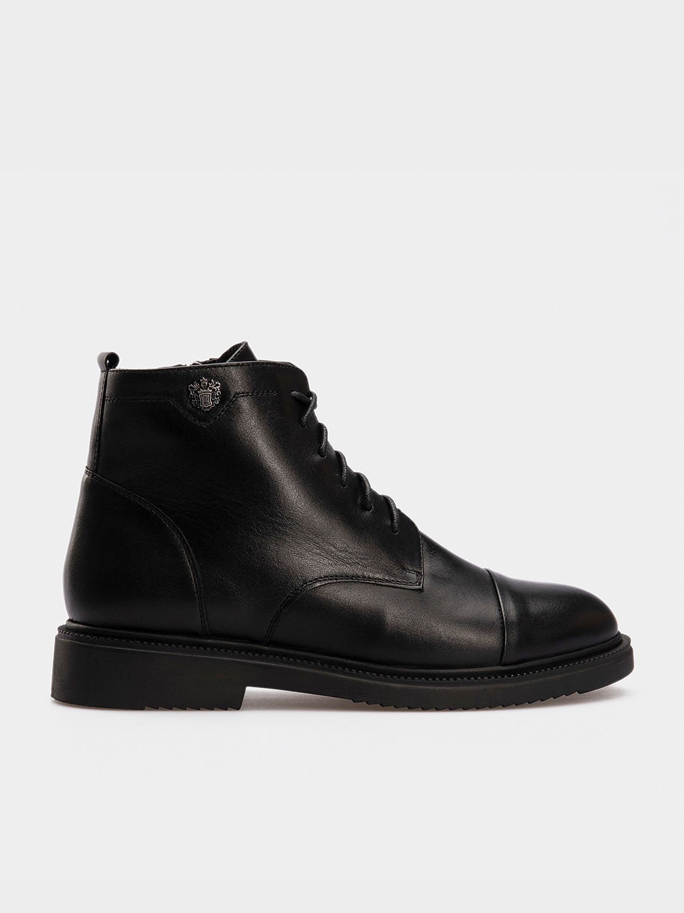 Черевики  жіночі Ботинки черная кожа. Байка 14500120 ціна взуття, 2017