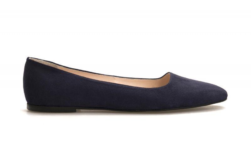Балетки для женщин Балетки 1503-110 синяя замша 1503-110sin размерная сетка обуви, 2017