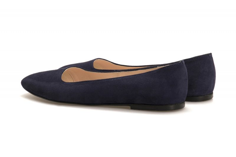 Балетки для женщин Балетки 1503-110 синяя замша 1503-110sin брендовая обувь, 2017