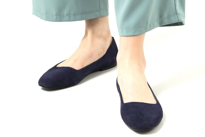 Балетки для женщин Балетки 1503-110 синяя замша 1503-110sin выбрать, 2017