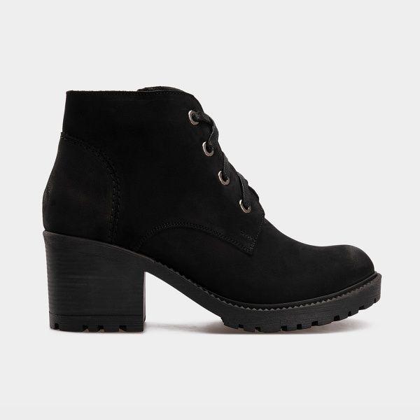 Ботинки женские Ботинки 1514-230 черный нубук. Шерсть 1514-230 купить в Интертоп, 2017