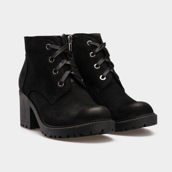 Ботинки женские Ботинки 1514-230 черный нубук. Шерсть 1514-230 примерка, 2017