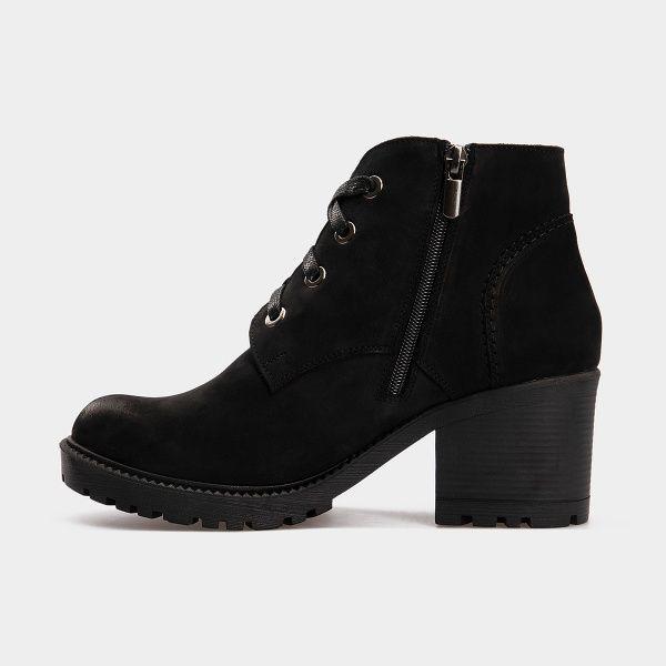 Ботинки женские Ботинки 1514-230 черный нубук. Шерсть 1514-230 выбрать, 2017