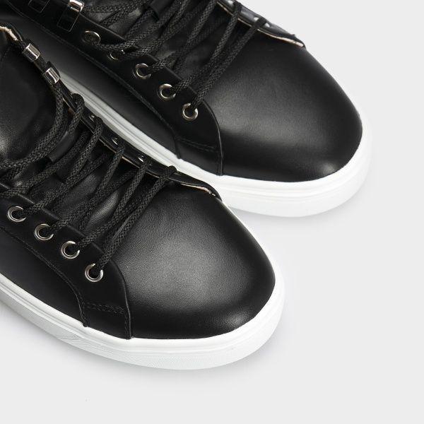 Кеды для женщин Кеды 153-2-010 черная кожа 153-2-010 модная обувь, 2017