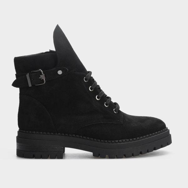 Ботинки женские Ботинки 1538-1-020 чорна замша. Байка 1538-1-020 выбрать, 2017