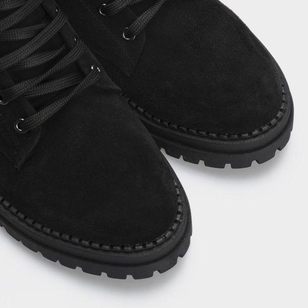 Ботинки женские Ботинки 1538-1-020 чорна замша. Байка 1538-1-020 , 2017