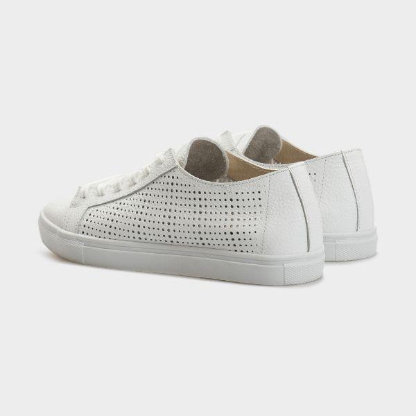Кеды для женщин Слипоны 154-P-010 белая кожа 154-P-010bel размерная сетка обуви, 2017