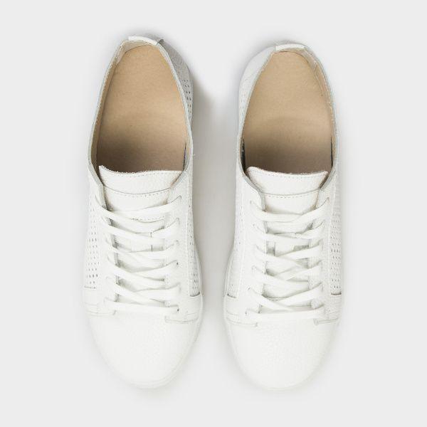 Кеды для женщин Слипоны 154-P-010 белая кожа 154-P-010bel цена, 2017
