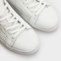 Кеды для женщин Слипоны 154-P-010 белая кожа 154-P-010bel брендовая обувь, 2017