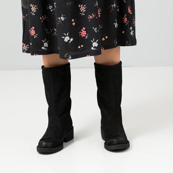 Сапоги женские Сапоги 15763253-230 черный нубук. Шерсть 15763253-230 Заказать, 2017