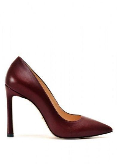 женские 158001 Бордовые кожаные туфли Modus Vivendi 158001 размерная сетка обуви, 2017