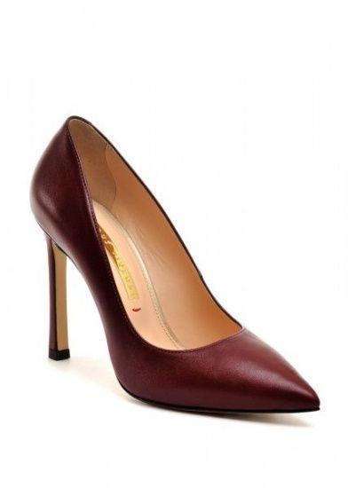 женские 158001 Бордовые кожаные туфли Modus Vivendi 158001 брендовая обувь, 2017
