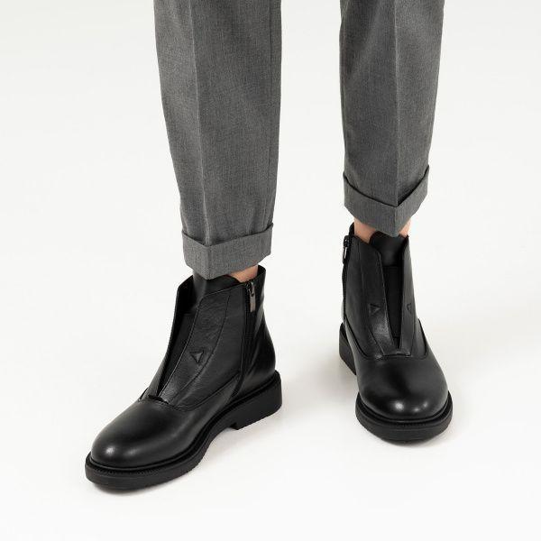 Ботинки женские Ботинки 16000220-2 черная кожа. Байка 16000220-2 купить в Украине, 2017