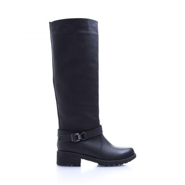 Сапоги для женщин Сапоги 1625-020 черная кожа. Байка 1625-020 брендовая обувь, 2017