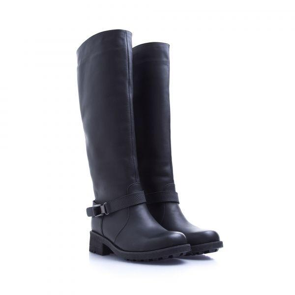 Сапоги для женщин Сапоги 1625-020 черная кожа. Байка 1625-020 примерка, 2017