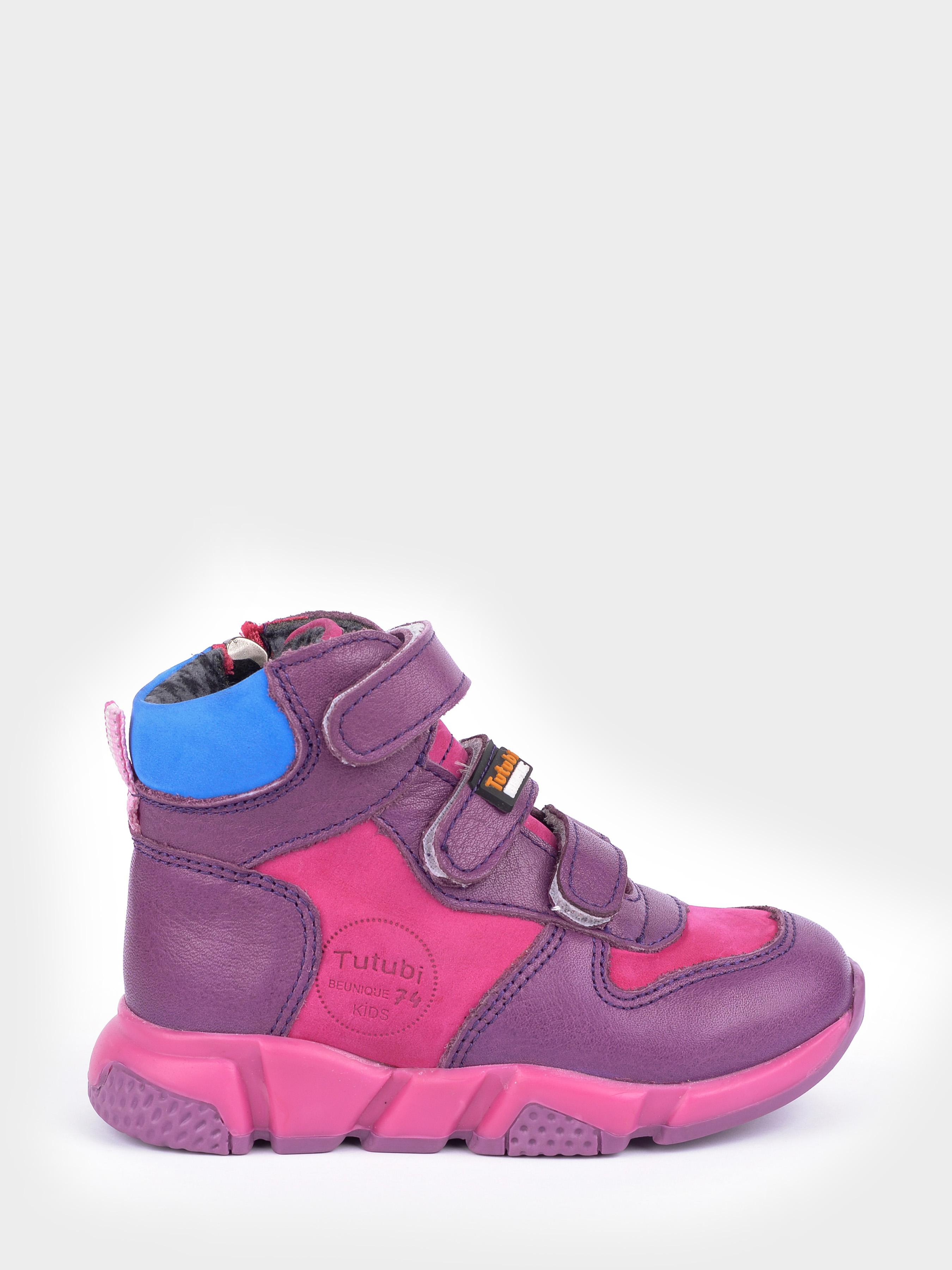 Купить Ботинки детские Демисезонные ботинки для девочки 1670-KR-07, Tutubi, Фиолетовый, Розовый