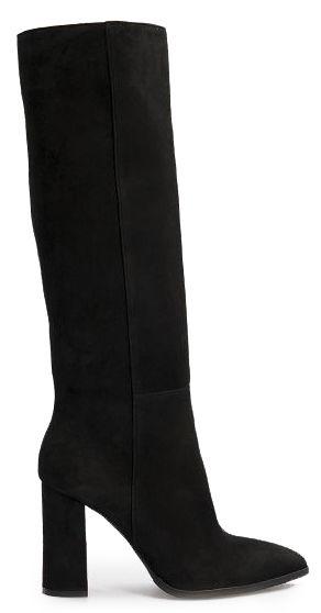 Сапоги женские Сапоги 1673-120 черная замша. Байка 1673-120 размерная сетка обуви, 2017