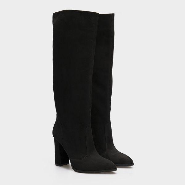 Сапоги для женщин Сапоги 1700 черная замша 1700-020 цена обуви, 2017